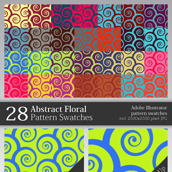 28 Abstract Floral Pattern Swatches