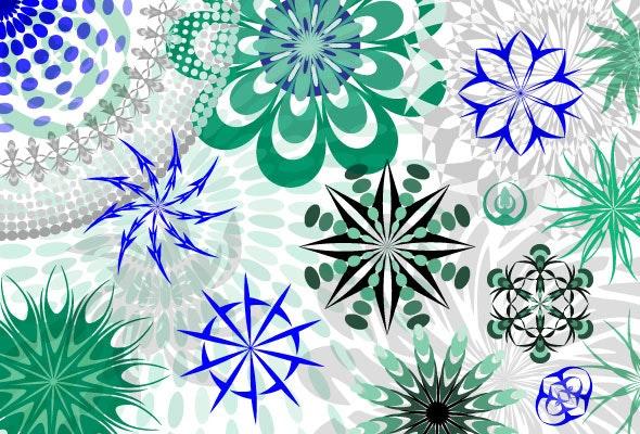 Illustrator Circular Pattern Brushes - Abstract Brushes