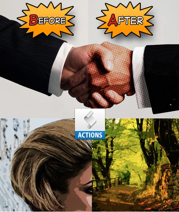 Cartoon/Comic-book effect Action - Photo Effects Actions