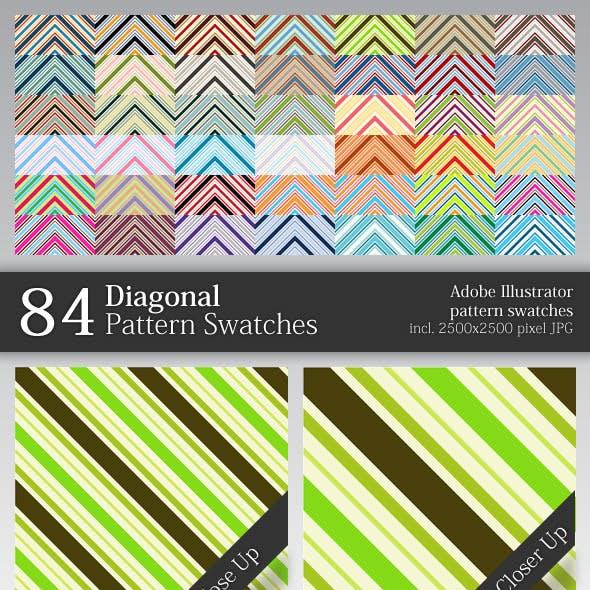 84 Diagonal Pattern Swatches