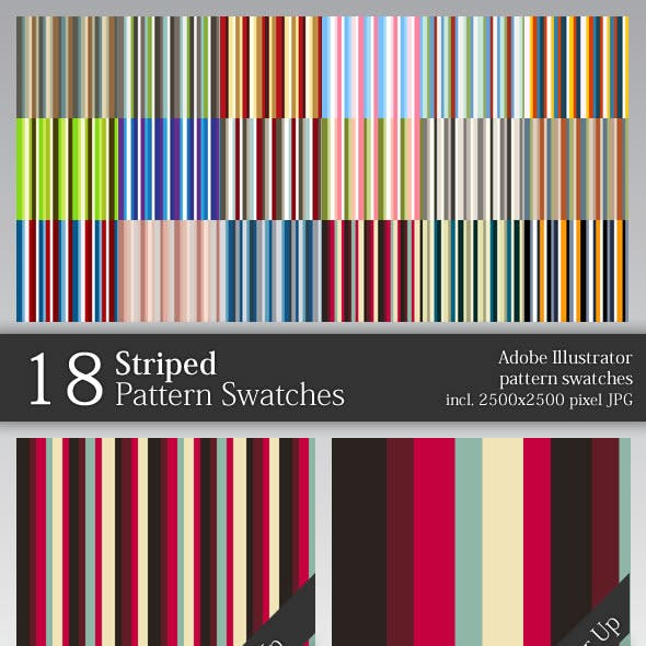 18 Striped Pattern Swatches