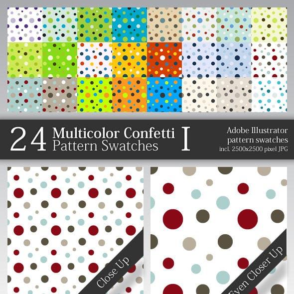 24 Multicolor Confetti Pattern Swatches I