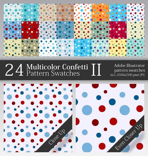 24 Multicolor Confetti Pattern Swatches II