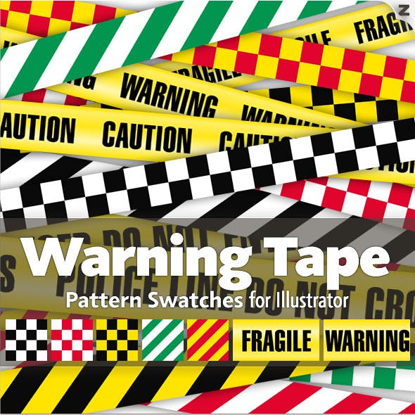 15 Warning Tape Pattern Swatches