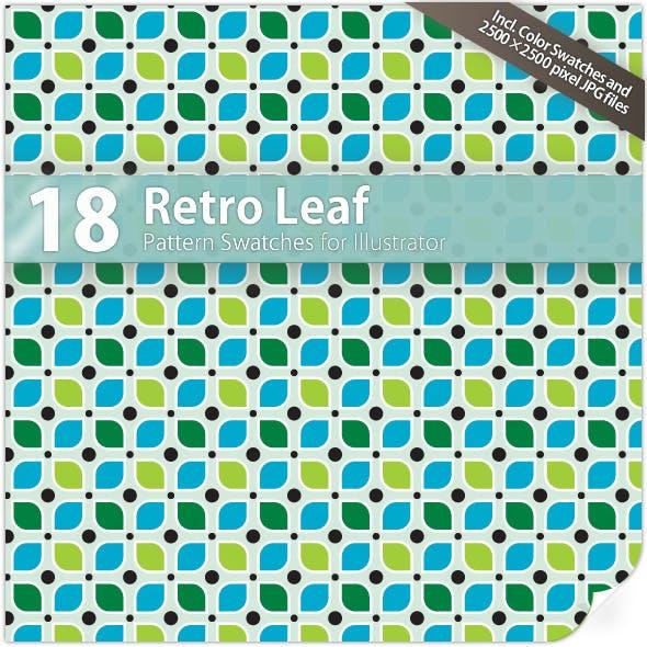18 Retro Leaf Pattern Swatches