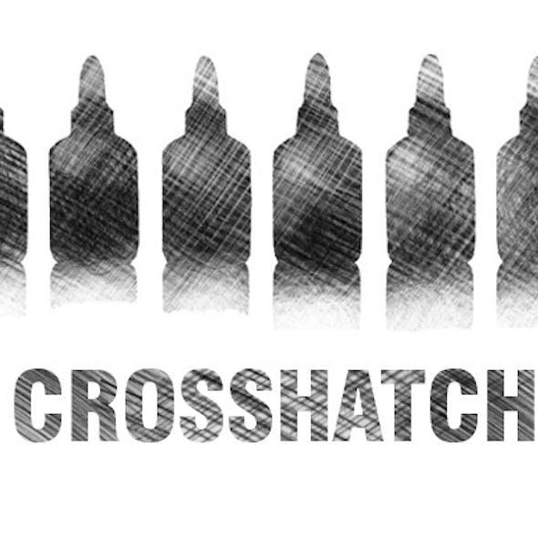 crosshatch brush set - pencil