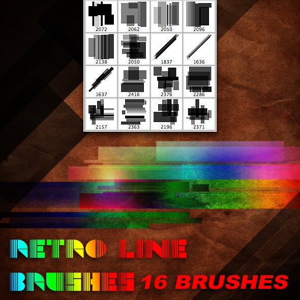 Retro Line Brush Set