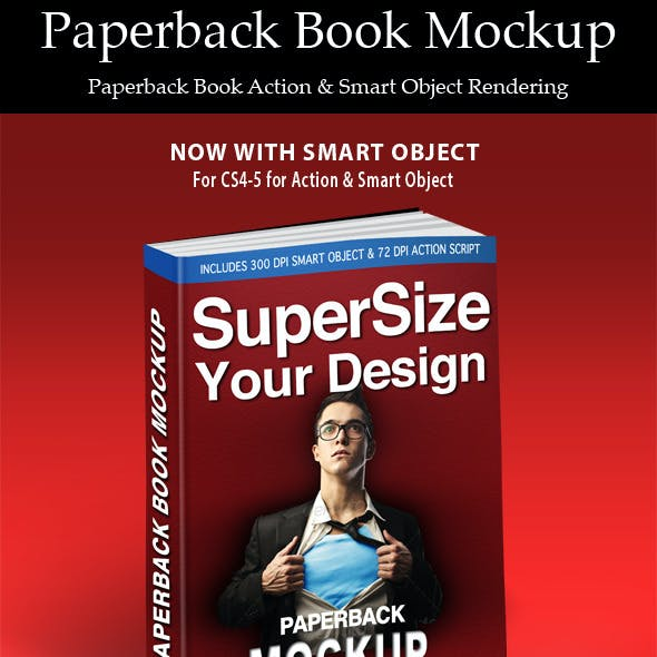 Paperback Book Action & Smart Object