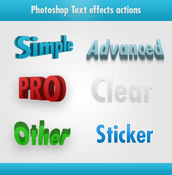 Photoshop Text Effects - Text Effects Actions