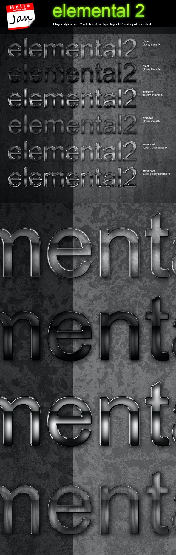 elemental 2 - professional styling package - Text Effects Styles