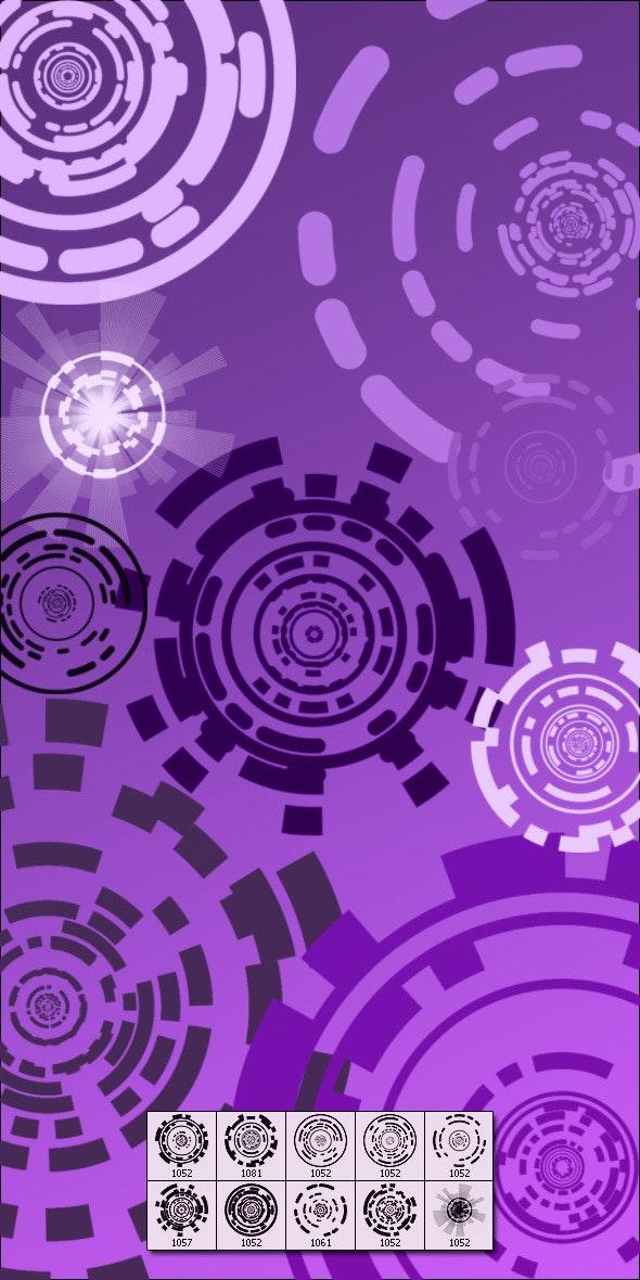 Deskar-Techcircle - Techno / Futuristic Brushes