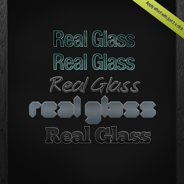 Real Glass Layer Styles - Photoshop Add-ons