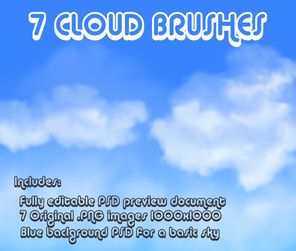 Cloud Brushes - Photoshop Add-ons