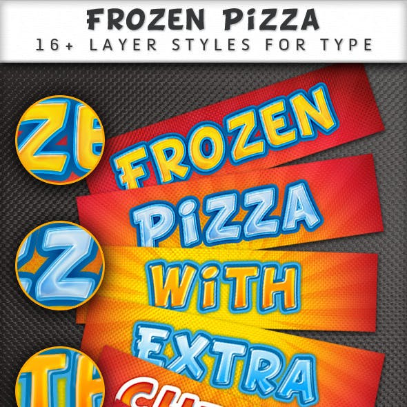 Frozen Pizza layer styles