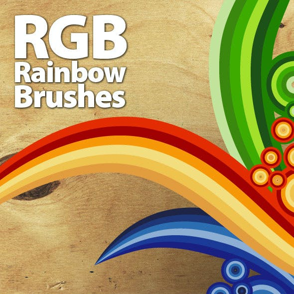 RGB Rainbow Vector Brushes