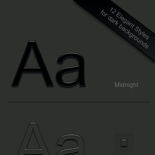 12 Elegant Text Styles for drak backgrounds