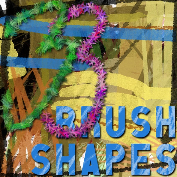 33 Marker Pen & Pencil Textured Scratch Brushes - Artistic Brushes