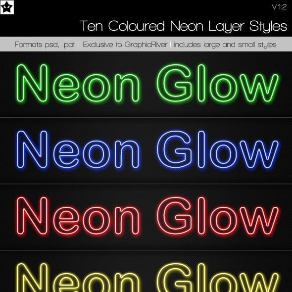 10 Neon Layer Styles