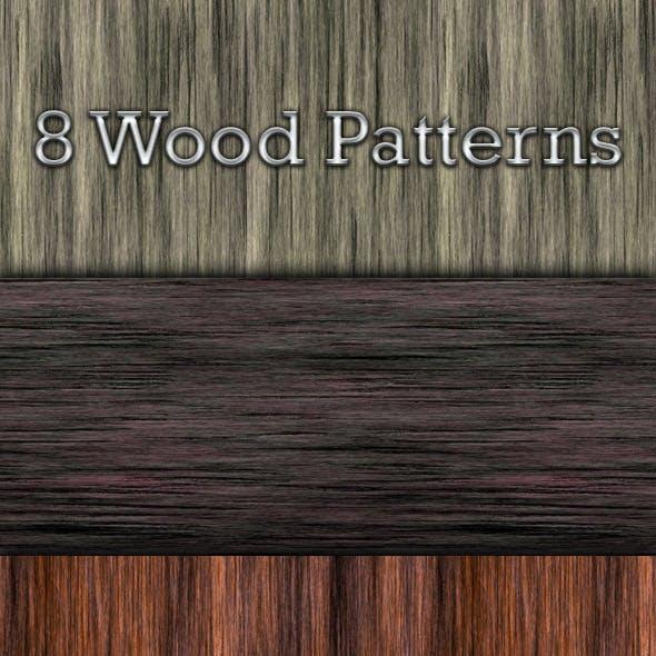 8 Seamless Wood Patterns