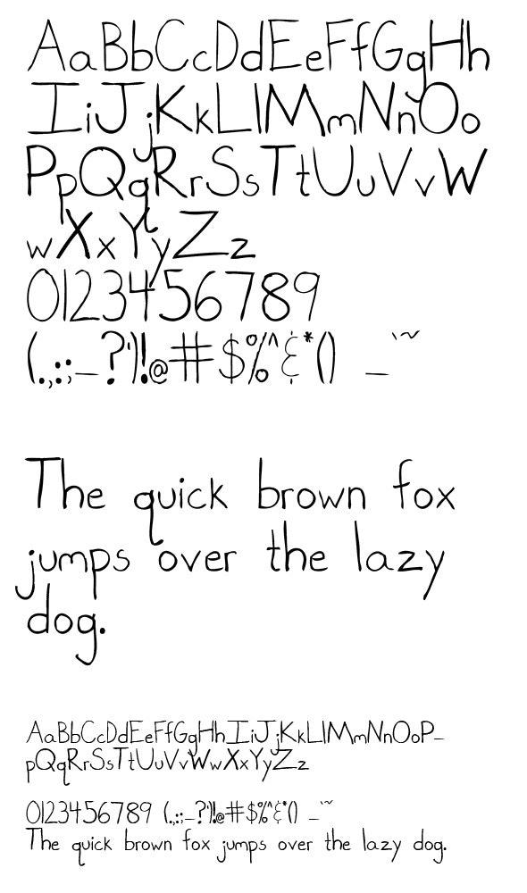 Hand Drawn Letters - Sans-Serif Fonts