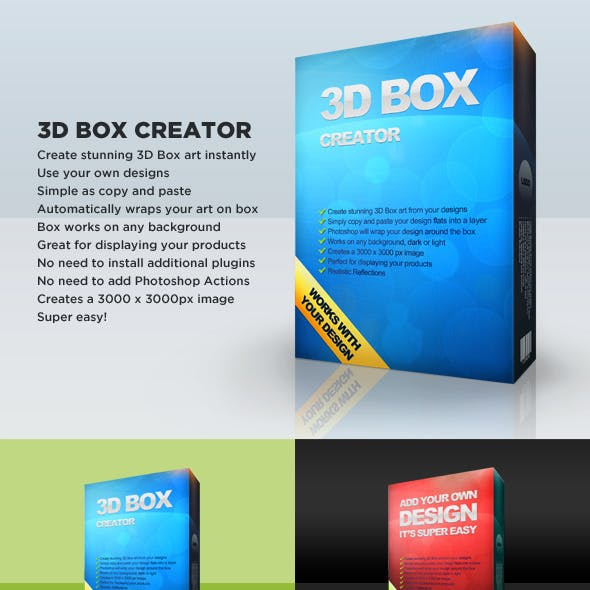 3D Box Art Creator Editable Template