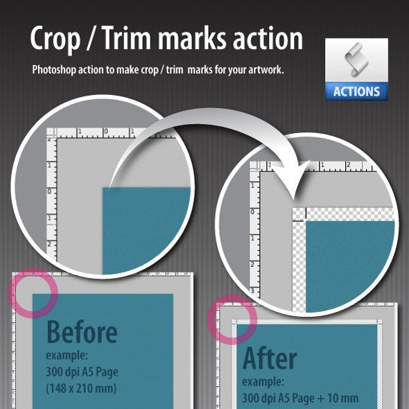 Crop marks action