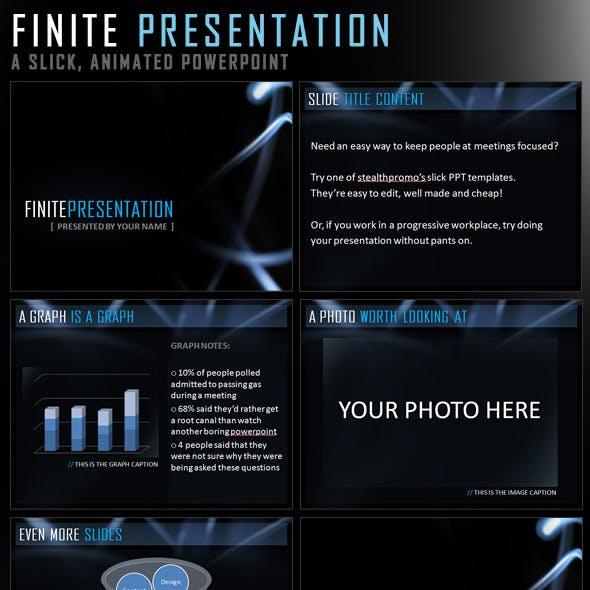 Finite Presentation - Slick Powerpoint Template