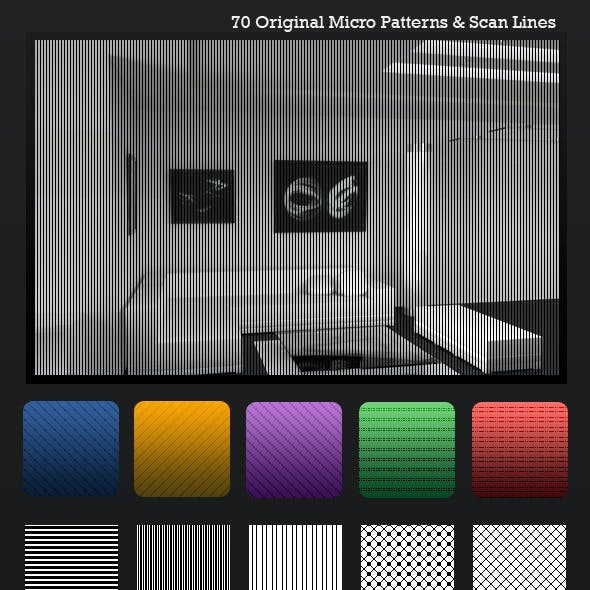 Ultimate ScanLines & Micro Patterns - 70 Pack