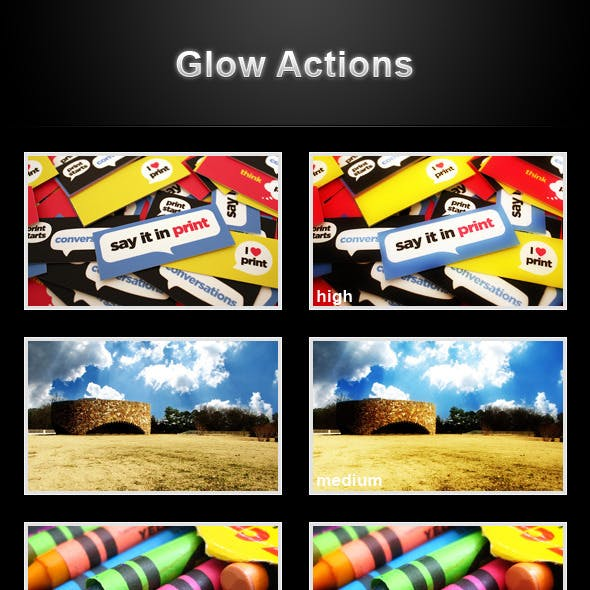 Glow actions