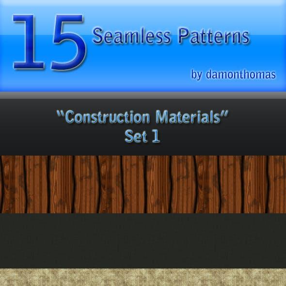 "15 ""Construction Materials"" Seamless Patterns"