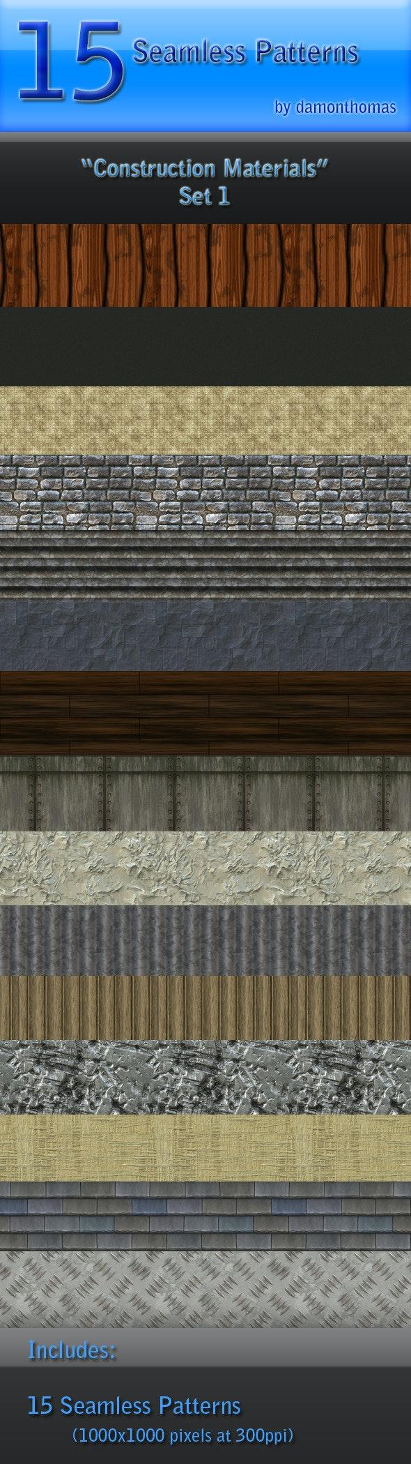 "15 ""Construction Materials"" Seamless Patterns - Textures / Fills / Patterns Photoshop"