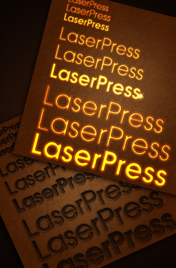 laser pressed text style - Text Effects Styles