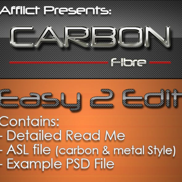 Carbonfibre Text Effects & Styles
