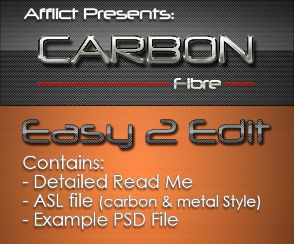 Carbonfibre Text Effects & Styles - Text Effects Styles