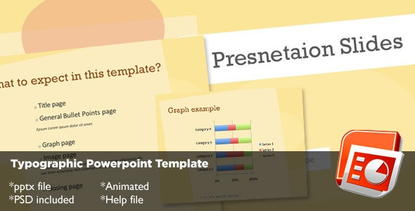Typography Powerpoint Template - Creative PowerPoint Templates
