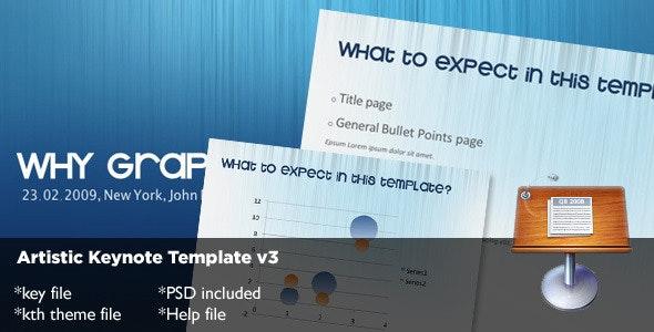 Artistic Keynote Template v3 - Abstract Keynote Templates