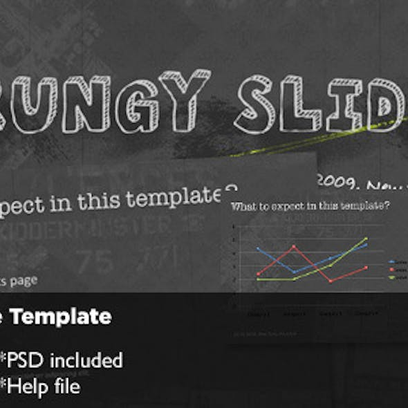 Grungy Keynote Template