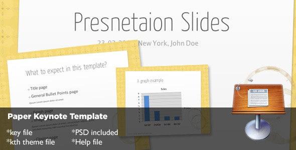 Paper Keynote Template - Creative Keynote Templates