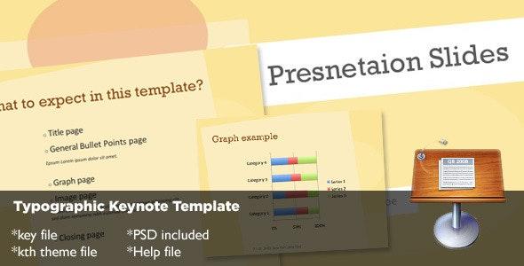 Typography Keynote Template - Creative Keynote Templates