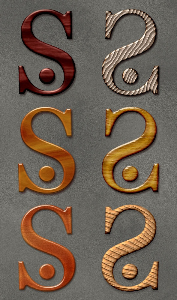 Wood Styles - Text Effects Styles