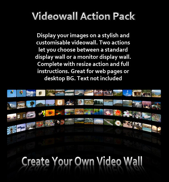 Video Wall Action Pack - Photo Effects Actions