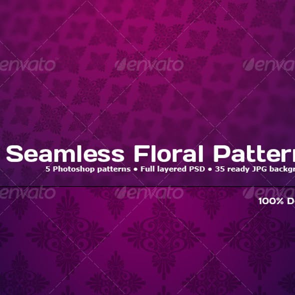 5 Tileable Floral Photoshop Patterns