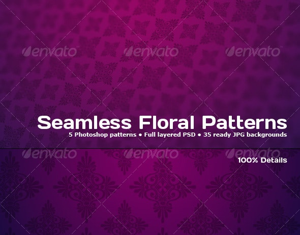 5 Tileable Floral Photoshop Patterns - Photoshop Add-ons