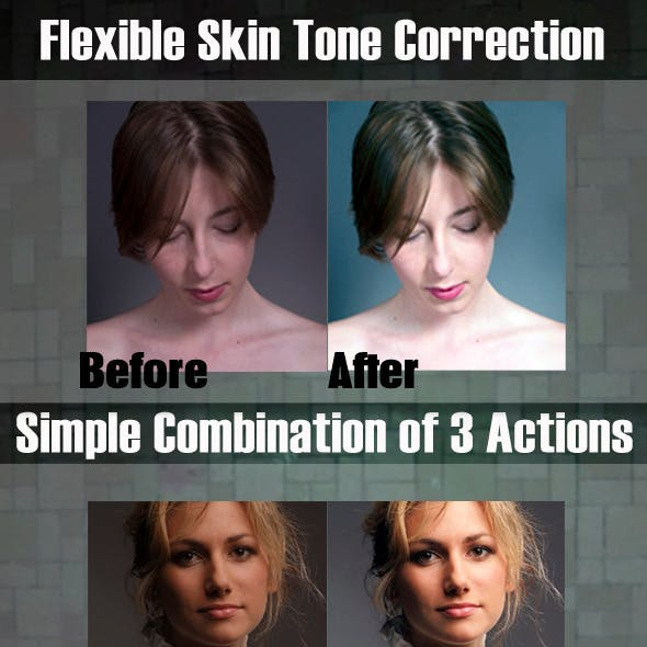 Skin Color Correction & Enhacement Actions #1