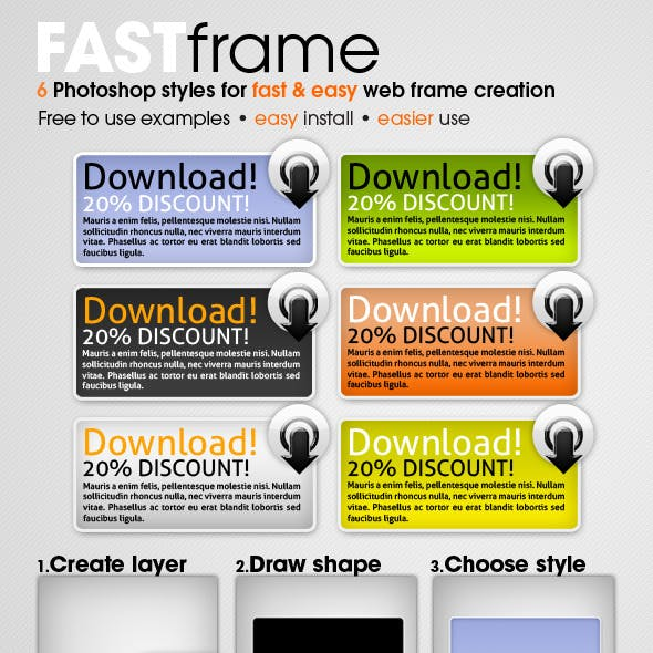 FAST frame Photoshop styles