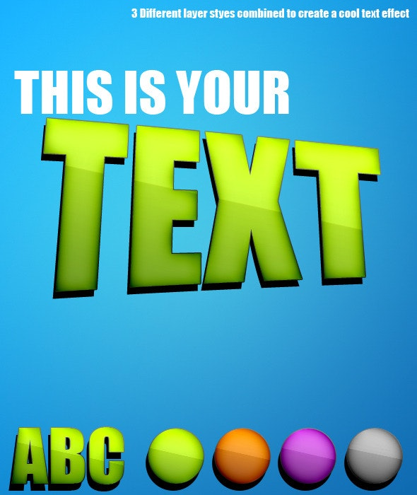 Extraterrestrial Text effect using Layer Styles - Text Effects Styles
