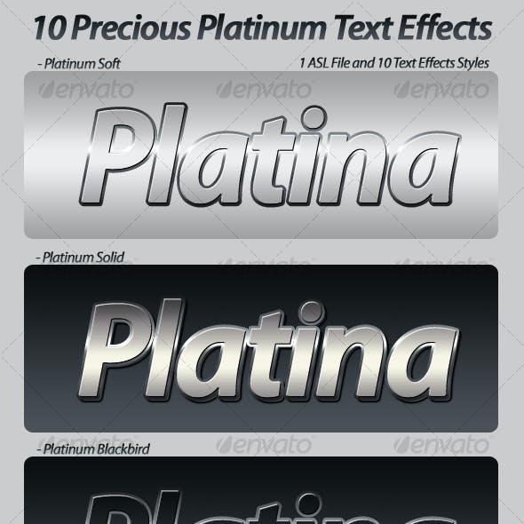 Precious Platinum Photoshop Text Effects & Styles