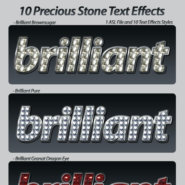 Stone Text Effects Styles
