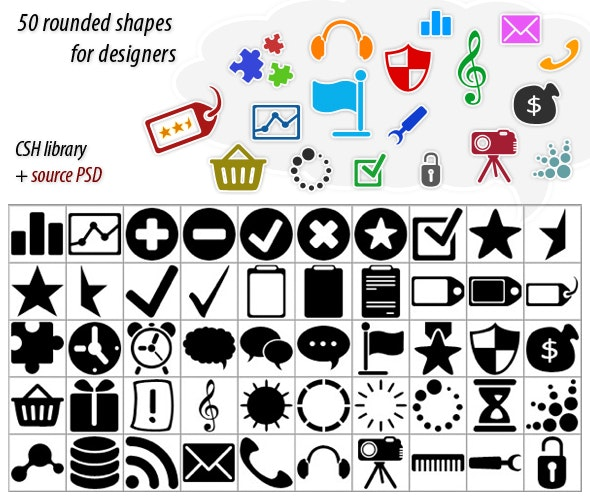 Webround Shapes - Photoshop Add-ons