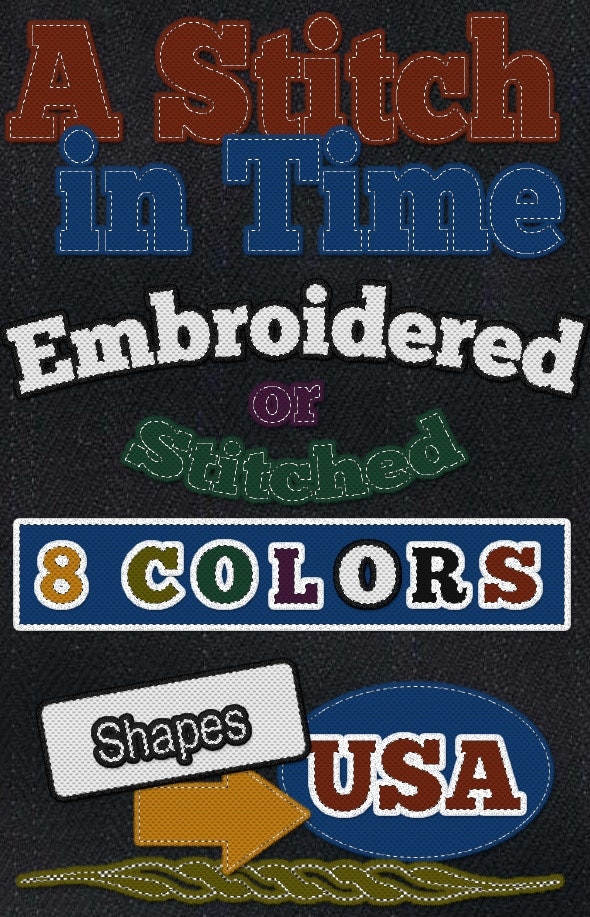 Stitches and Embroidery Layer Style - Text Effects Styles